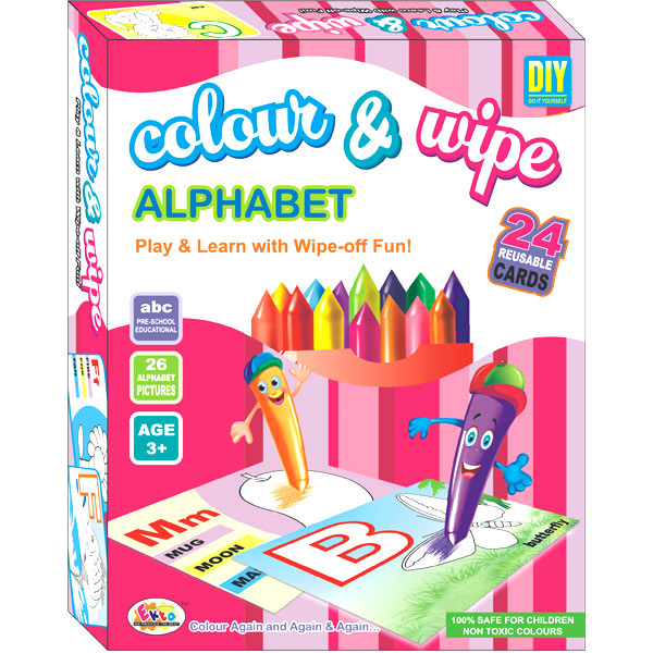 Ekta Color & Wipe - Alphabet Play and Learn