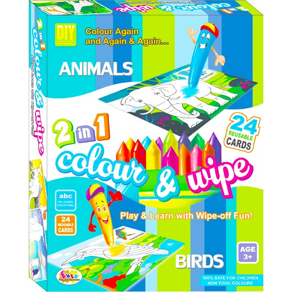 Ekta Color & Wipe - Animals and Birds