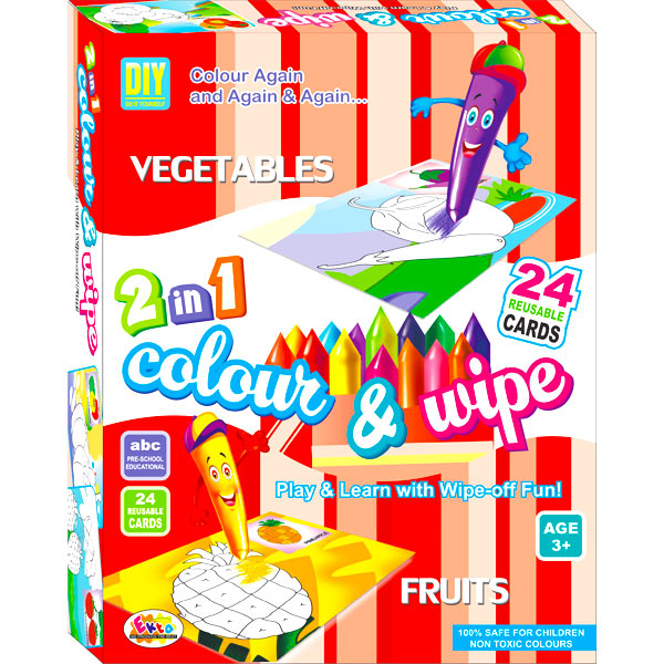 Ekta Color & Wipe - Vegetables and Fruits