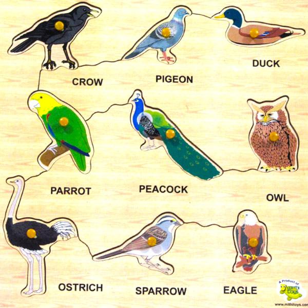 Wooden Puzzle Birds