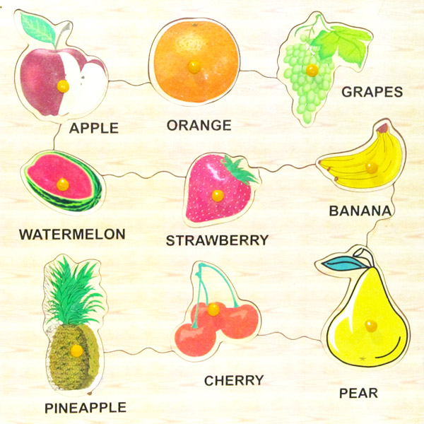 Wooden Puzzle Fruits