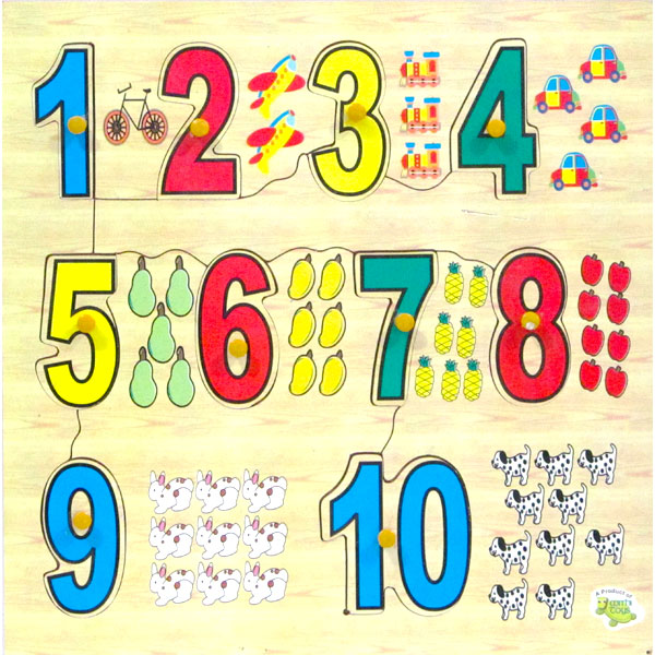 Wooden Puzzle Numbers