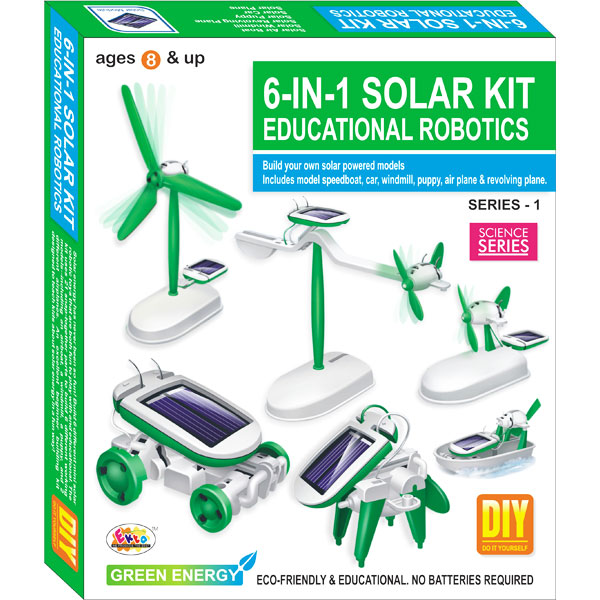 Ekta 6 in 1 Solar Kit Robotics Series-1 DIY Kit