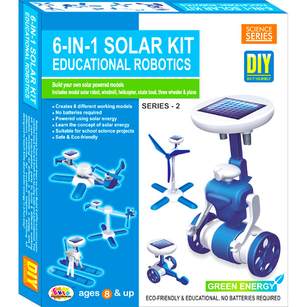 Ekta 6 in 1 Solar Kit Robotics Series-2 DIY Kit