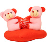 Couple on Heart Teddy Bear