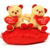 Teddy Bear on Heart with Heart