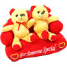 Couple on Sofa Toy Teddy Bear