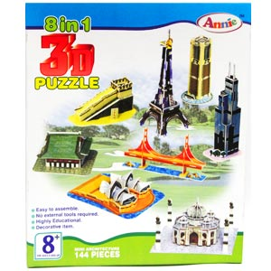 Annie 8 in 1 3D Puzzle