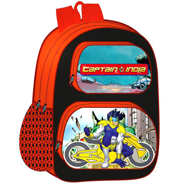 Captain India School Bag