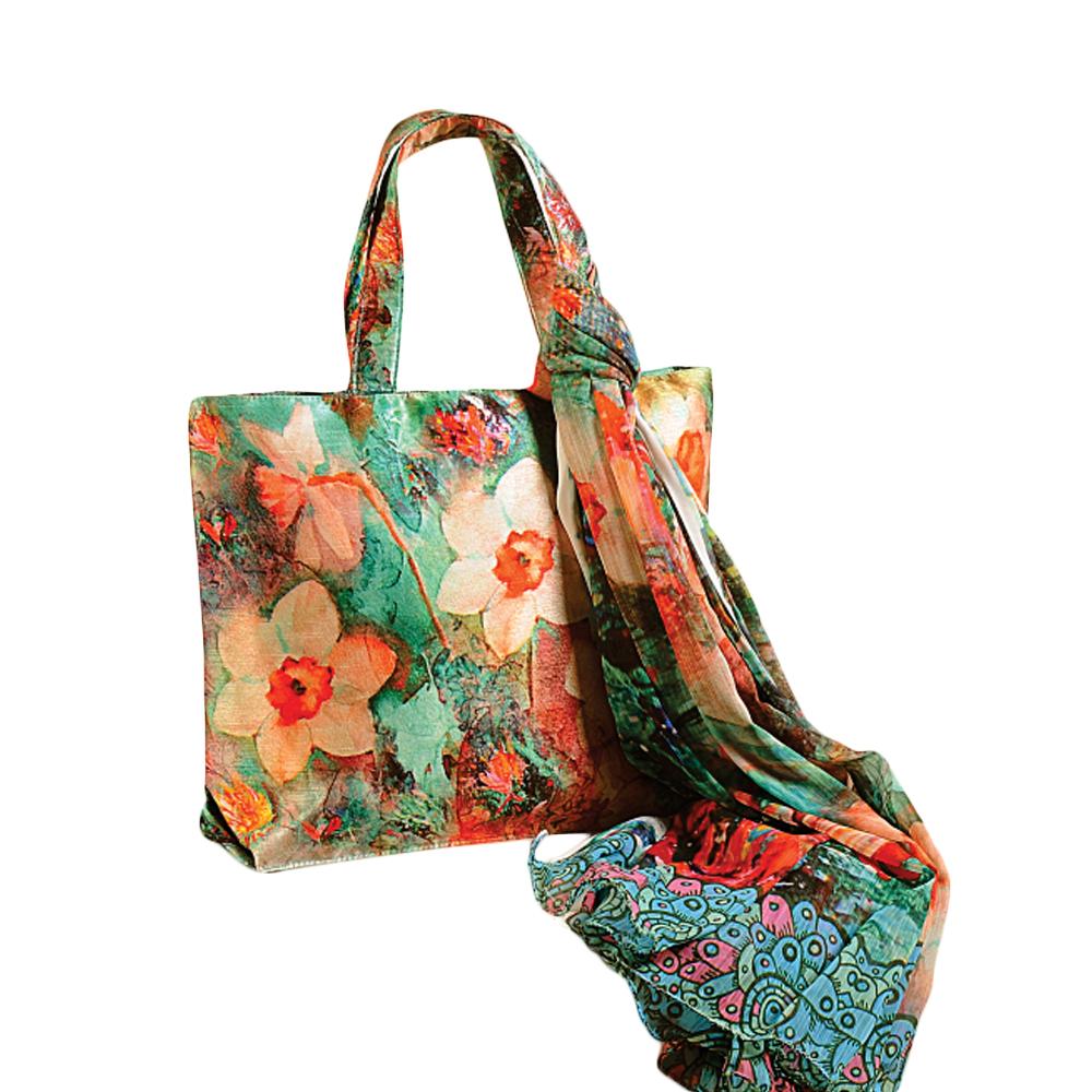 Garden Flora Bag with Scarf