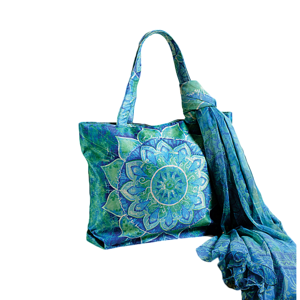 Ethenic Motif Bag with Scarf