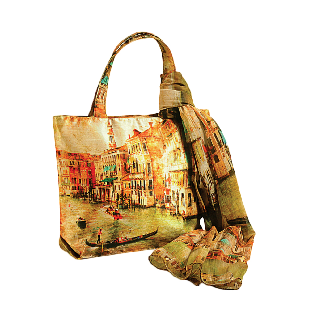 City of Venice Bag with Scarf