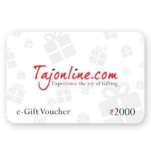 Tajonline e-Gift Voucher worth Rs. 2000/-