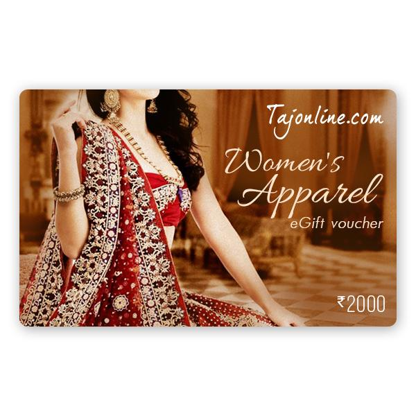 Tajonline Women's Apparel e-Gift Voucher worth Rs. 2000/-