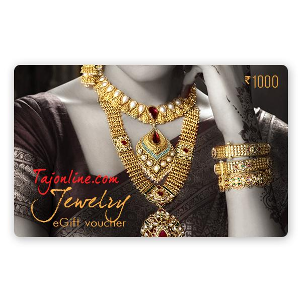 Tajonline Jewelry e-Gift Voucher worth Rs. 1000/-