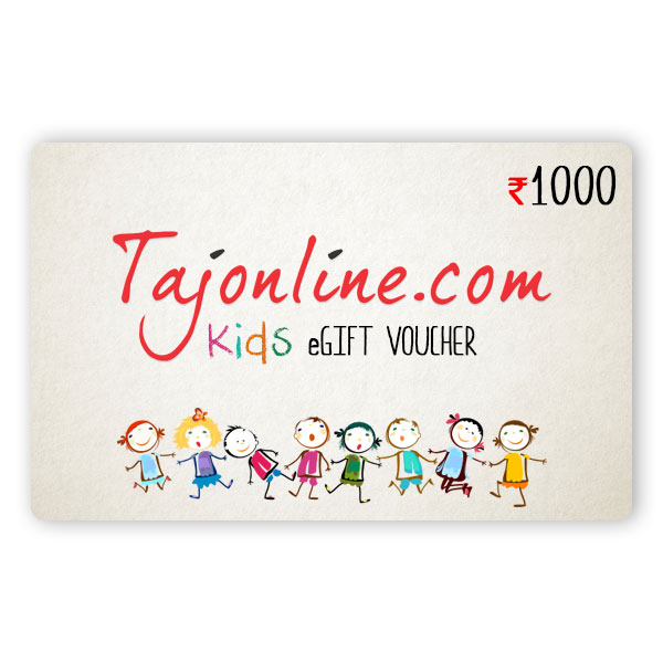 Tajonline Kids e-Gift Voucher worth Rs. 1000/-