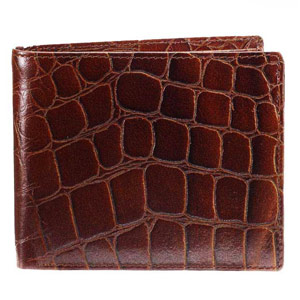 Croco Print Wallet for Men