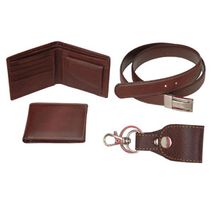 Fine Milled Leather Gift Set