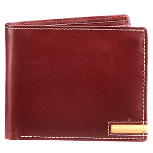 Bifold Full Grain Maroon Wallet for Men