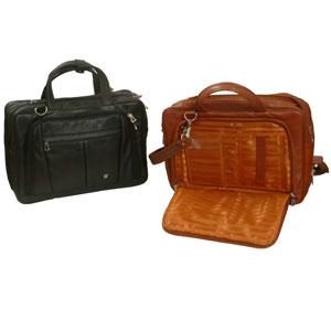 Leather Portfolio cum Laptop Bag