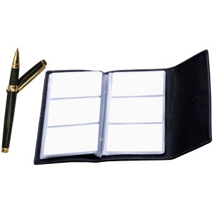 Pierre Cardin Forever Roller Pen & Visiting Card Album Set