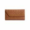 Checkered Leather Ladies Clutch Wallet