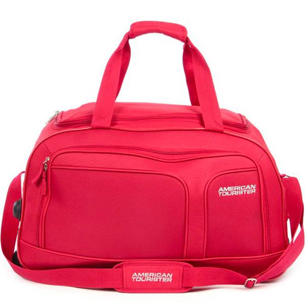 American Tourister Aegis Core Red 2 Wheel Duffle Trolley