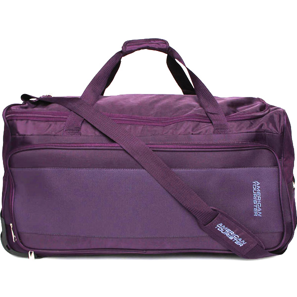 American Tourister Aegis Plus Purple Duffle Trolley Bag