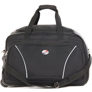 Duffle Bags-American Tourister Aegis Plus Purple Duffle Trolley Bag
