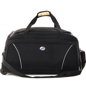 Duffle Bags-American Tourister Black 2 Wheel Trolley Bag