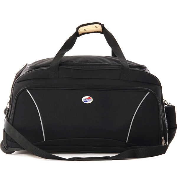 American Tourister Black 2 Wheel Trolley Bag