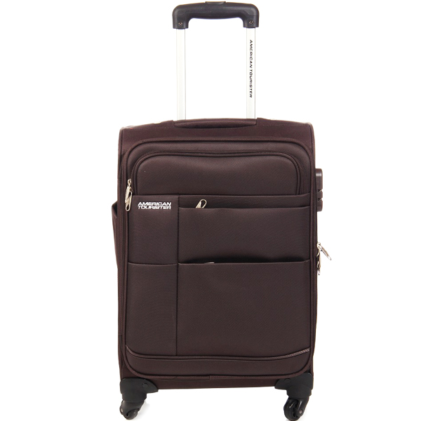 American Tourister Brown Trolley Luggage Bag