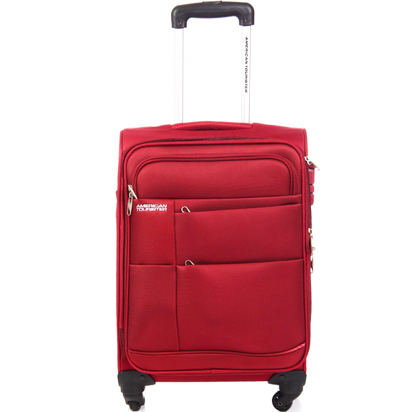 American Tourister Maroon Trolley Luggage Bag