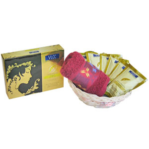 Beauty & Spa Hampers-VLCC Luxury Gold Facial Beauty Care Hamper