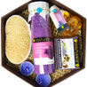 Gift Soulflower Lavender Hexagon Bath Set on Mothers Day