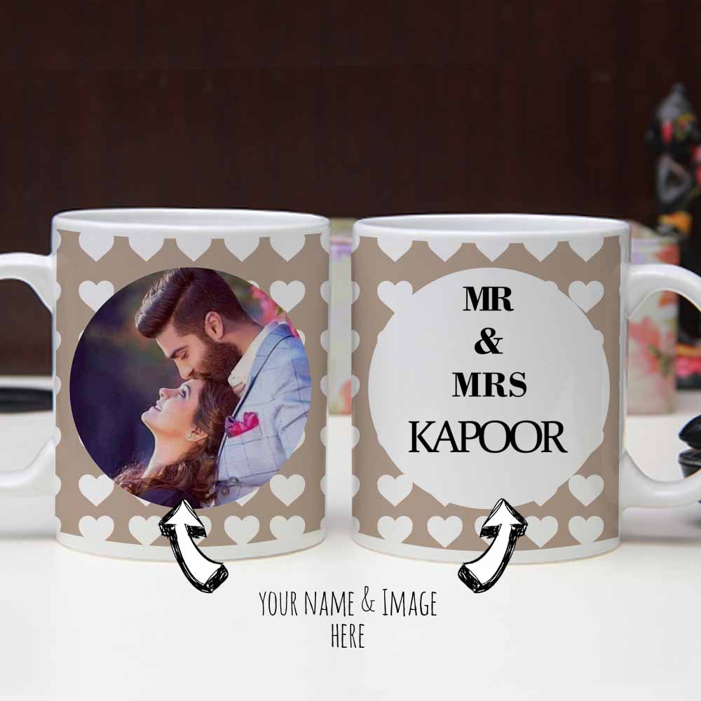 Valentine Mugs set with Printed Quotes