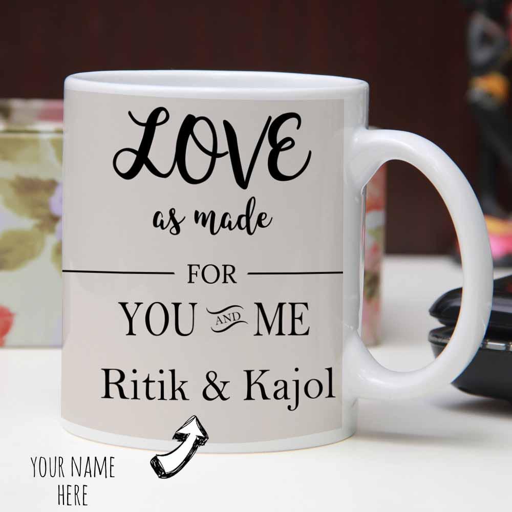 Roses and Hearts Printed Mugs
