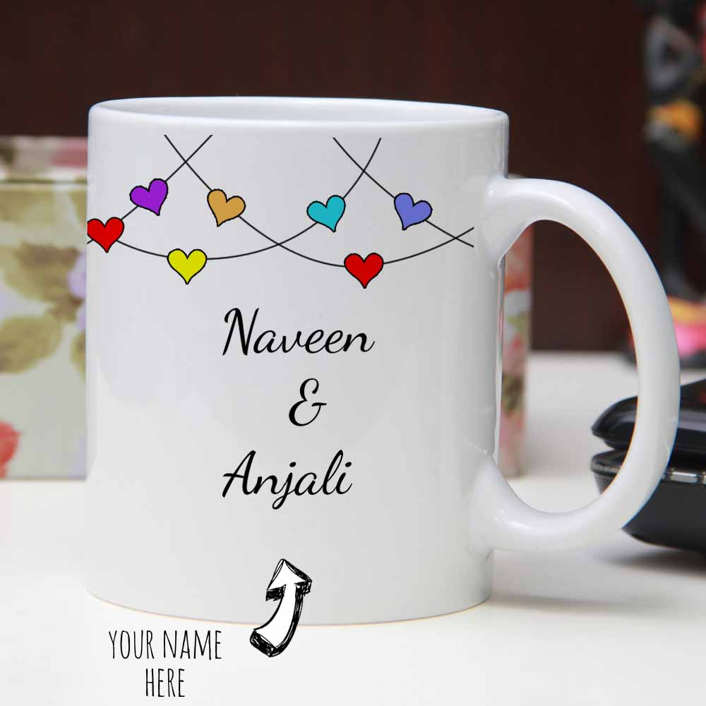 Personalized Heart with Names Mug