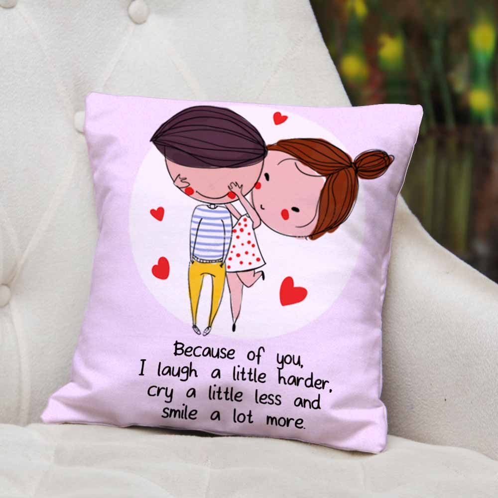 Romantic Quote Printed Cushion