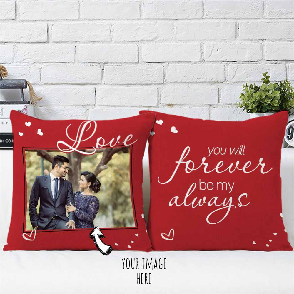 Love Forever Personalized Cushions Pair