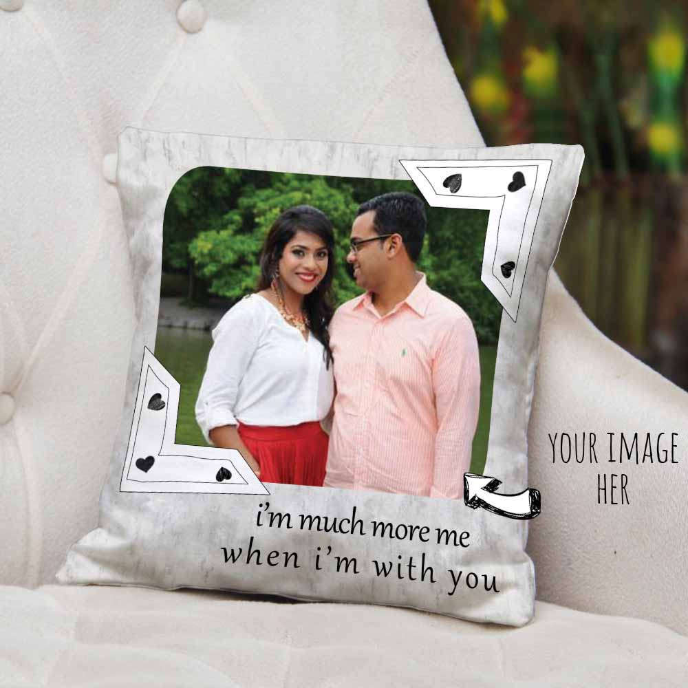 I Am With You Personalized Cushion