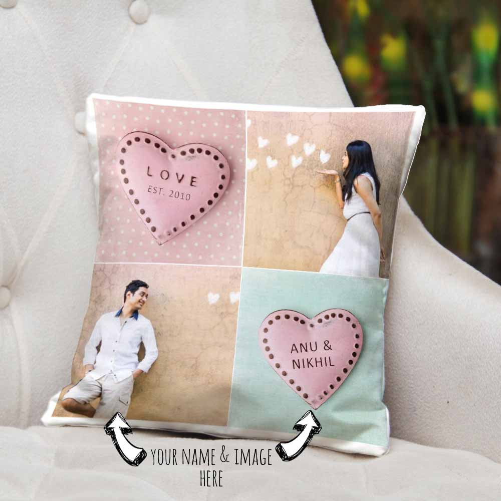 Personalized Name and Photo Cushion
