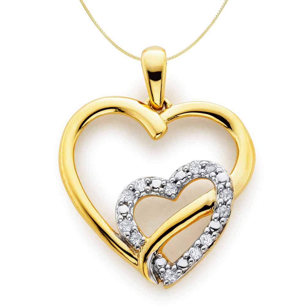 Facetzinspire Diamond Heart Pendant