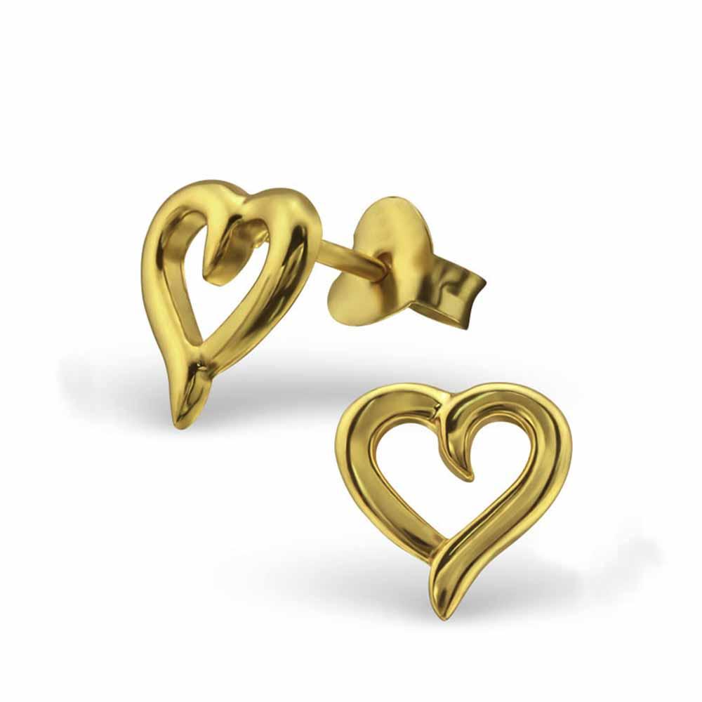 Sterling Silver Heart Valentine Earring