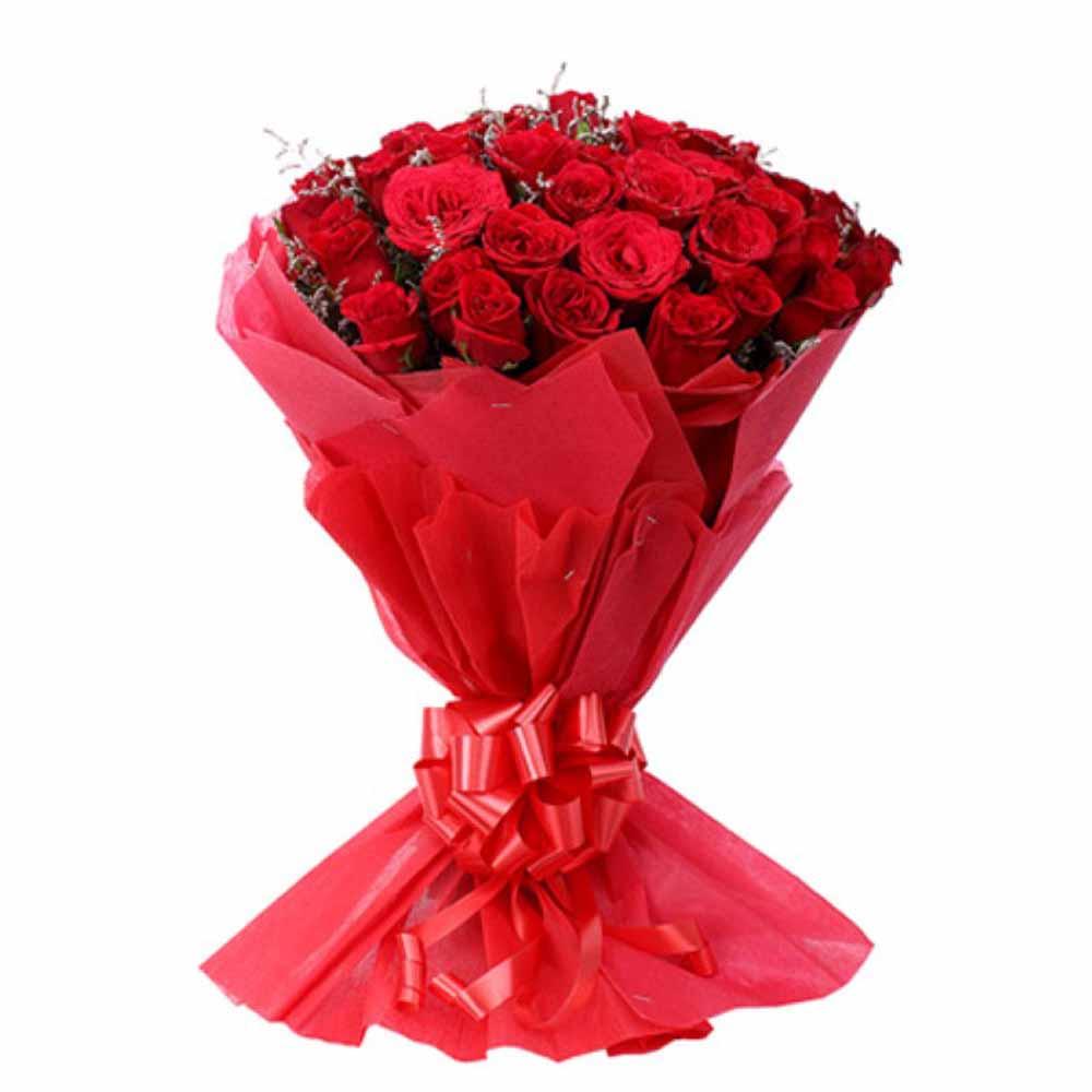 Lovable Twenty Five Lovely Red Roses