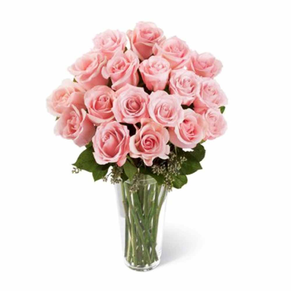 Pink Roses Vase For Love One