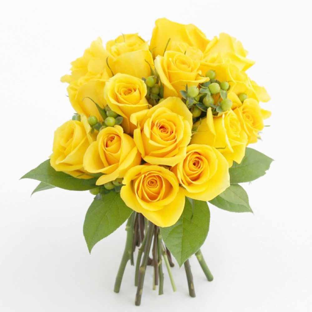 Yellow Roses Bunch for Valentines Gift