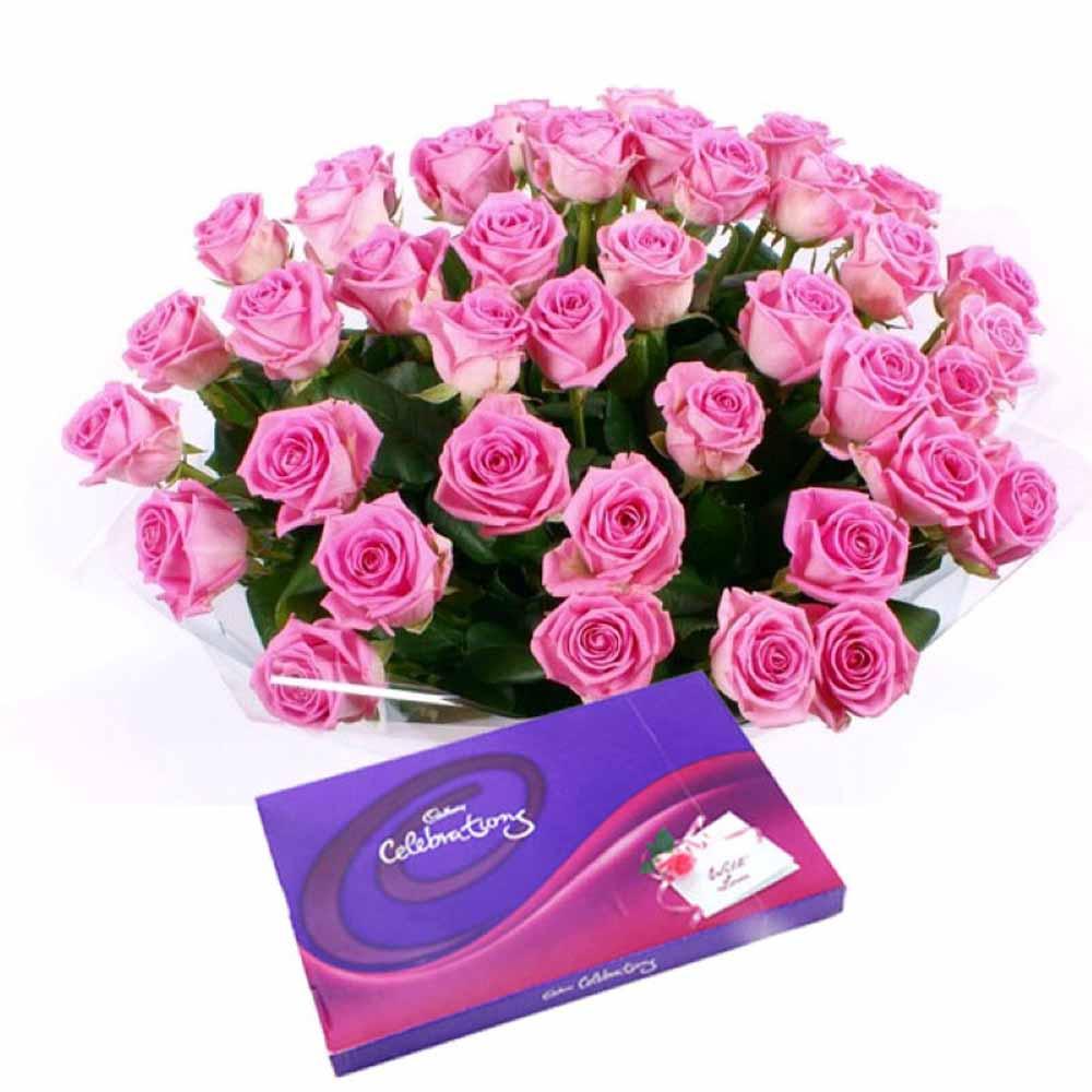 Valentine Flowers-Valentine Pink Rosy Gift