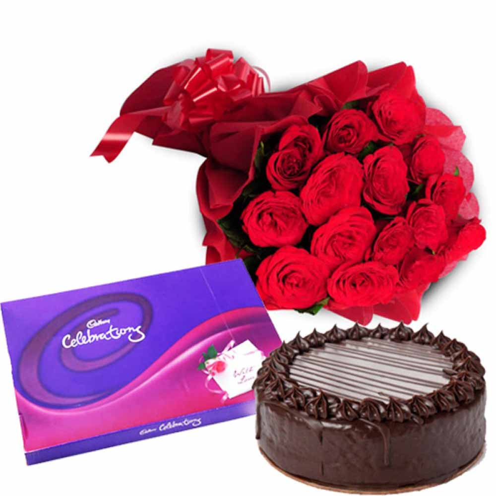 Valentine Flowers-Chocolaty Love Gift on Valentine