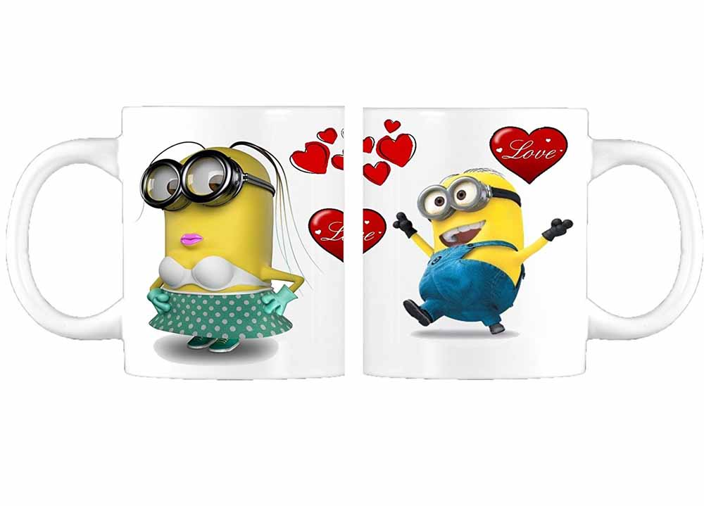 Awwsme Minion Love Valentine Coffee Mug Gift